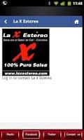 Screenshot of La X Estereo 100% Salsa