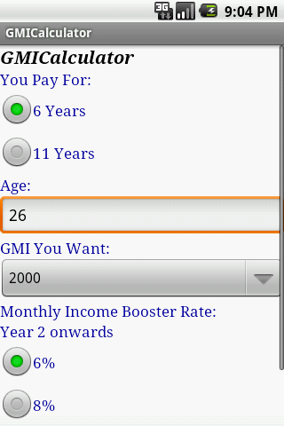 GMI Calculator
