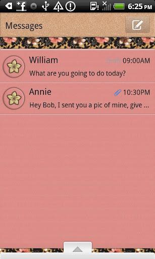 GO SMS THEME DustyRose4U