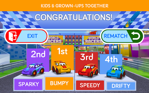 World Racers family board game - screenshot