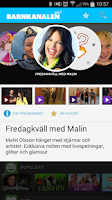 Screenshot of SVT Barnkanalen