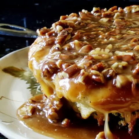 Buttermilk Skillet Cake with Pecan Praline Topping