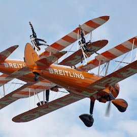 The Breitling Wingwalkers by Mark Minas - Transportation Airplanes ( uk, england, airplanes, breitling, wingwalkers, air, bull, reb, ascot, race, planes )