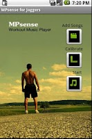 Screenshot of Work out music mp3 player