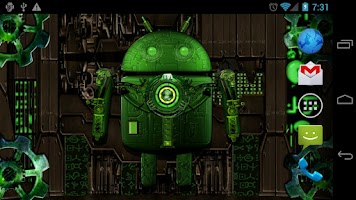 Screenshot of Steampunk Droid Free Wallpaper