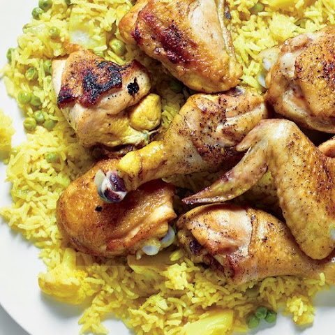 Spiced Yellow Rice with Chicken and Vegetables