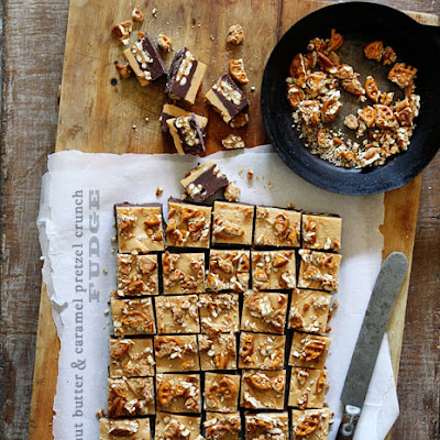 Peanut Butter & Caramel Pretzel Crunch Fudge