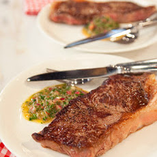 Pan-Seared Steaks with Chimichurri Sauce