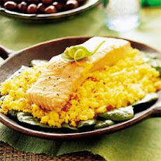 Roast Salmon with Coriander Couscous