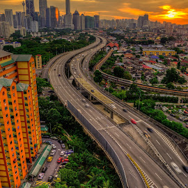 From 19th floor by Mohammad Hisham Abd Zamhuri - City,  Street & Park  Skylines