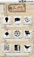 Screenshot of tim holtz