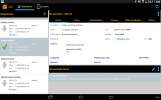 Screenshot of SAP CRM Service Manager