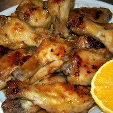 Sweet and Hot Orange Wings