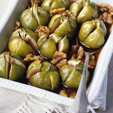 Baked Maple & Walnut Figs With Vanilla Mascarpone