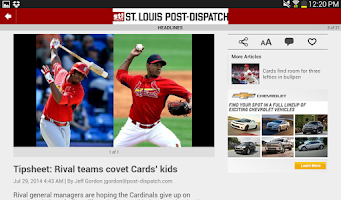 Screenshot of Post-Dispatch Baseball