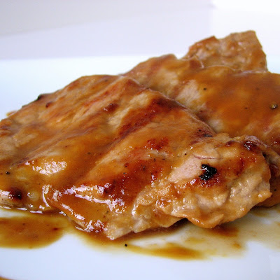 Molasses-Mustard Glazed Pork Medallions