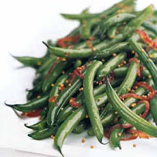 Green Beans with Red Onion and Mustard Seed Vinaigrette