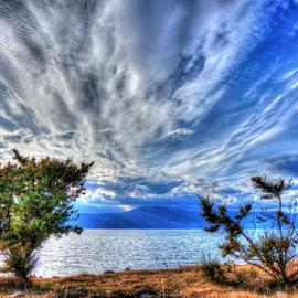 Clouds by Dalibor Jud - Landscapes Cloud Formations ( clouds, adriatic, sky, učka, tree, blue, otok, croatia, sea, krk, hrvatska )