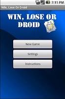 Screenshot of Win, Lose Or Droid