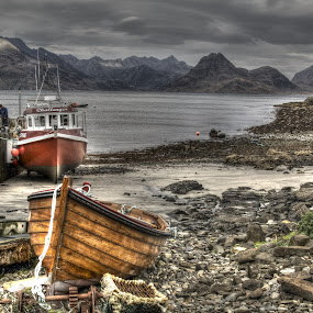 Skye fishing boats by Brian Miller - Transportation Boats ( cuillins, skye, fishing boats, fishing, coast )