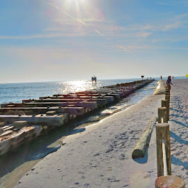 pier by Cary K - Novices Only Landscapes ( water, sand, pier, beach, sun )