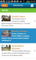 Screenshot of Nairobi Guide Hotels & Map