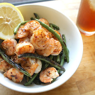 Spicy Shrimp and Charred Green Beans with Lemon