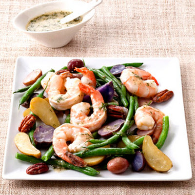String Bean and Fingerling Potato Salad with Shrimp