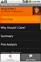 Screenshot of Henry IV Part 2: Shmoop Guide