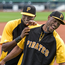 Dominicans have a laugh in the MLB by Daniel Decker - Sports & Fitness Baseball ( pnc park, marte, pirates, pittsburgh, baseball, polanco, mlb )