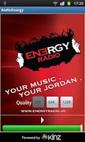 Screenshot of Energy Radio Jordan