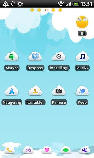 Summer Sky GO Launcher Theme