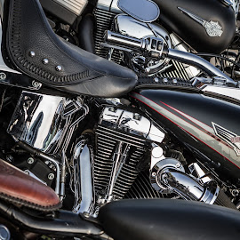 by Arti Fakts - Transportation Motorcycles ( harley, bike, motorbike, moto, chrome, davidson, three, artifakts, black )