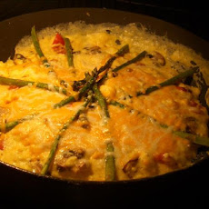 Open Faced Asparagus Omelet