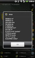 Screenshot of GPS Area Measure Free