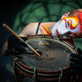 Silent Drummer by Derek Galon - People Portraits of Men