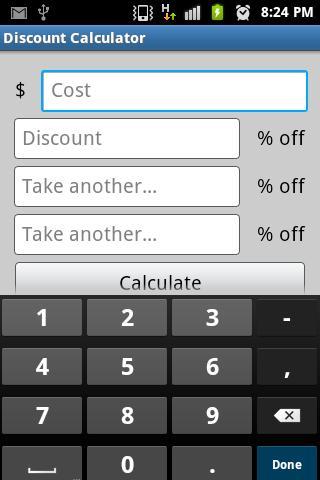 Multiple Discount Calculator