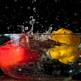 Splash by Suzanne Blais - Food & Drink Fruits & Vegetables ( yellow red vegetable )