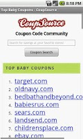 Screenshot of Baby Coupons, Diaper Deals Mom