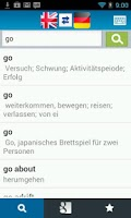 Screenshot of English German Dictionary