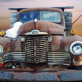 Rusty by Joerg Schlagheck - Transportation Automobiles ( broken, workhorse, old., cold, truck, wreck, snow, international, rusty )