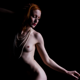 Pearls by Paul Phull - Nudes & Boudoir Artistic Nude ( art nude, pearls, red head )