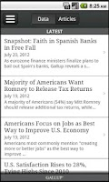 Screenshot of Gallup News