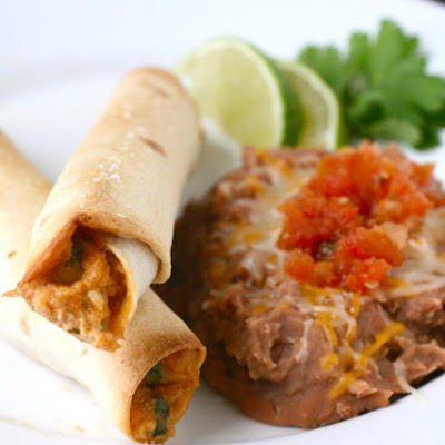 Creamy Chicken Taquitos