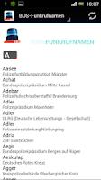 Screenshot of BOS - Funkrufnamen