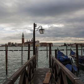 Gondola by Filip Kvakic - City,  Street & Park  Street Scenes ( gondola, beautiful, boats, venice, italy, river )