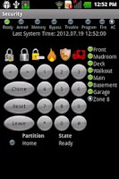 Screenshot of DSC Security Keypad