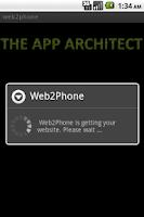 Screenshot of web2phone Bookmark