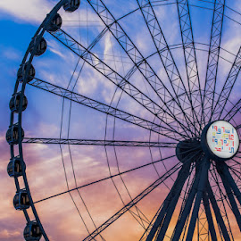 Clouds and Wheel by Jruzz Merca - City,  Street & Park  Amusement Parks