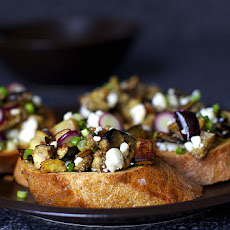 Eggplant Salad Toasts